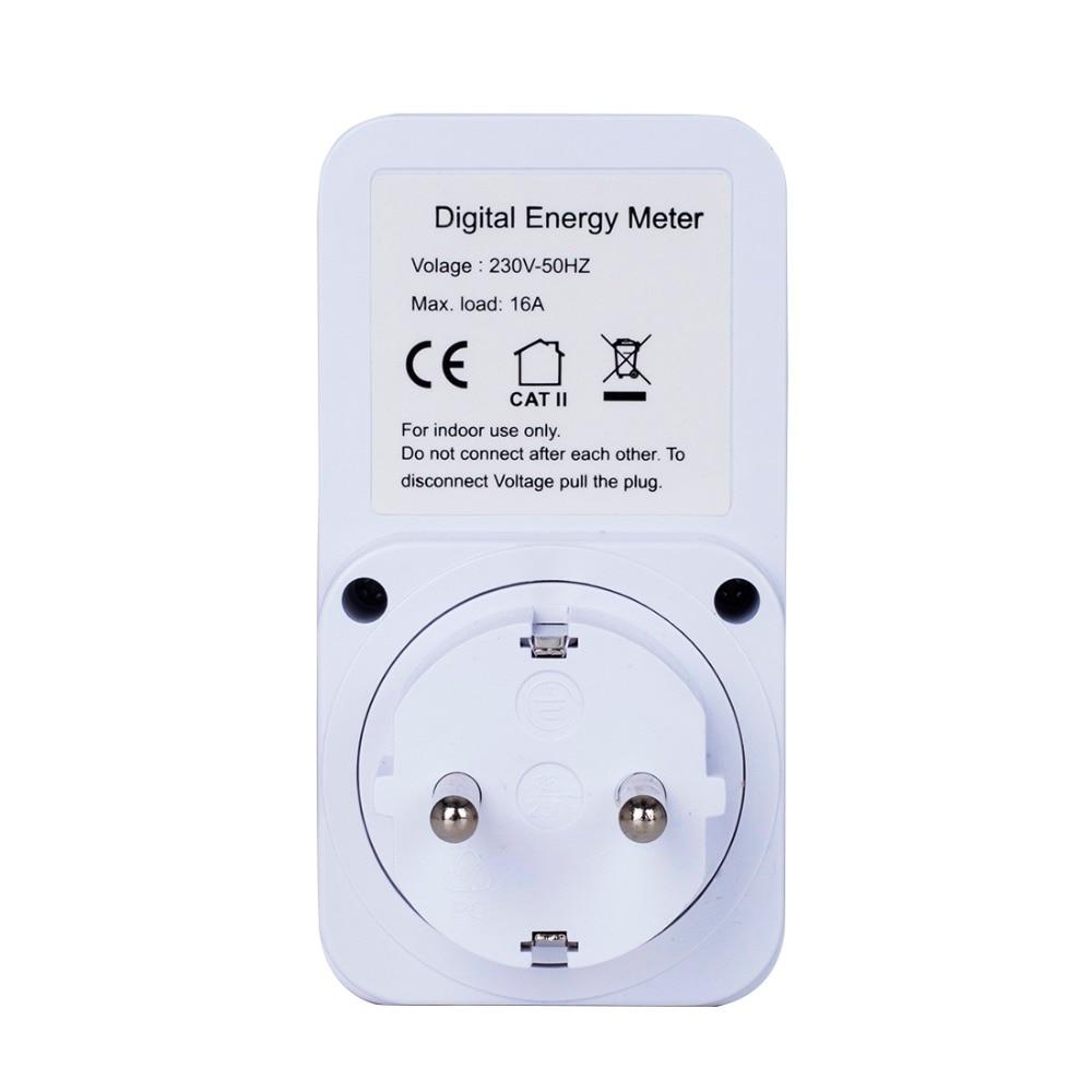 Chowcencen Plug-in num/érique wattm/ètre /écran LCD Power Meter Socket Wattm/ètre Plug-in Utilisation de l/électricit/é Consommation /électrique Prise Compteur