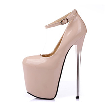 19CM Thin High Heel Platform Shoes