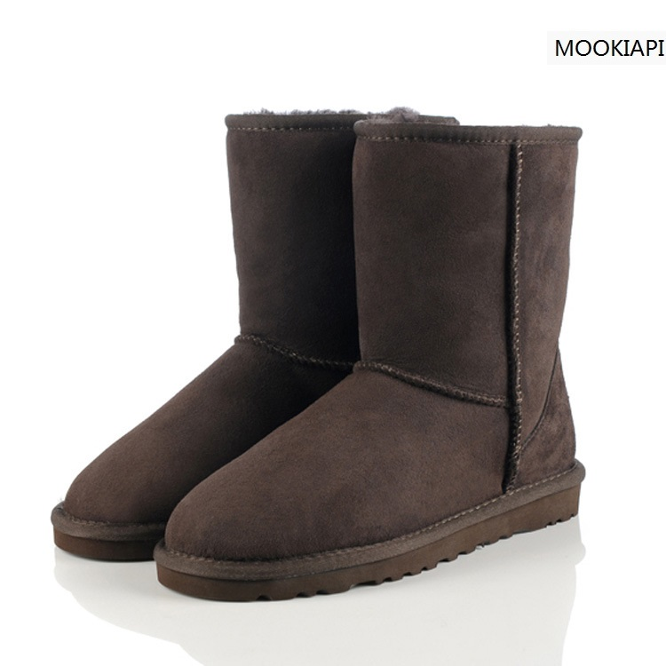 2019 High Quality! Australia Sheepskin Real Fur 100% Wool women shoes  snow boot, Brand  boots With Box Logo Free Shipping