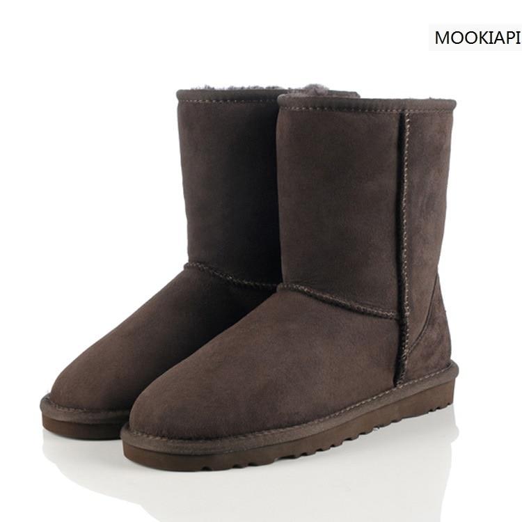 2019 haute qualité! Australie peau de mouton vraie fourrure 100% laine femmes chaussures botte de neige, marque bottes avec boîte Logo livraison gratuite