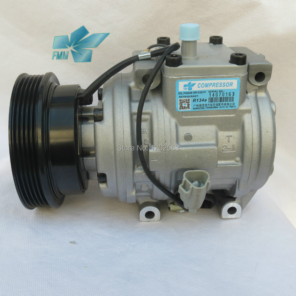US $105 0 |12v Refrigerant R134a conditioner ac compressor pump 10PA15L for  toyota RAV4-in A/C Compressor & Clutch from Automobiles & Motorcycles on