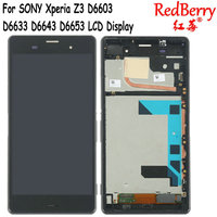 Redberry 5 2 Black White For Xperia Z3 D6603 D6633 D6643 D6653 LCD Display Digitizer Touch