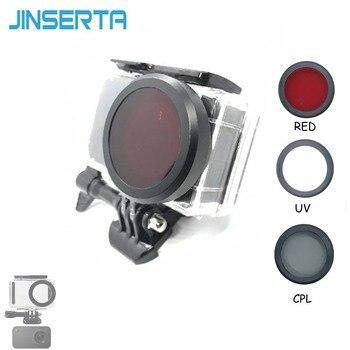 JINSERTA UV CPL Red Filter Cover Lens for Xiaomi mijia Waterproof case Xiaomi mijia Camera Accessories