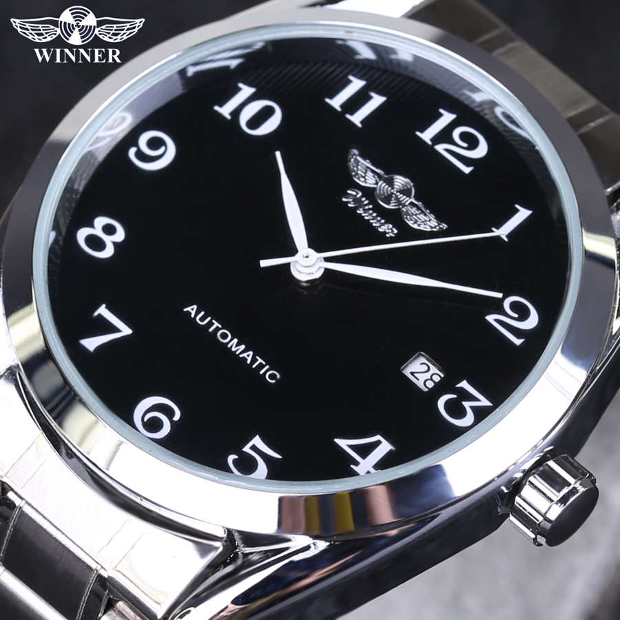 2018 Men's Watches Top Brand Luxury Men Automatic Mechanical Wristwatches Stainless Steel Strap Business Dress Watch Reloj Clock men luxury automatic mechanical watch fashion calendar waterproof watches men top brand stainless steel wristwatches clock gift