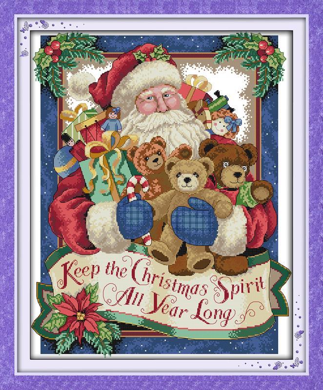 Gratis god jul (2)! DIY 11CT14CT telle korssting sett for håndarbeid - Kunst, håndverk og sying