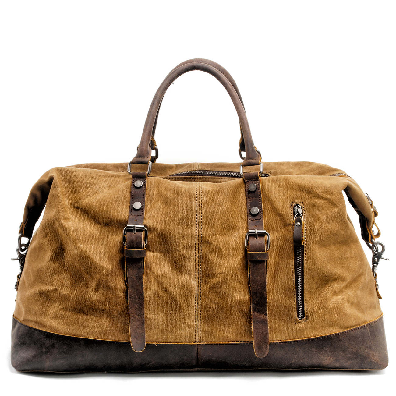 MUCHUAN Men Travel Bags M Hand Luggage Bags Canvas Leather Travel Duffel Bags Shoulder Bags Large Capacity Weekend Overnight-in Travel Bags from Luggage & Bags    1