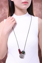 Choker Necklaces Women statement necklaces & pendants Wooden Beads Flower Pendant Woman necklace collares kolye colar collier