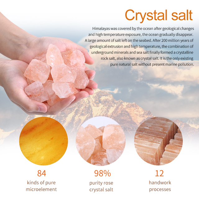 Himalayan Crystal Rock LED Salt Lamp