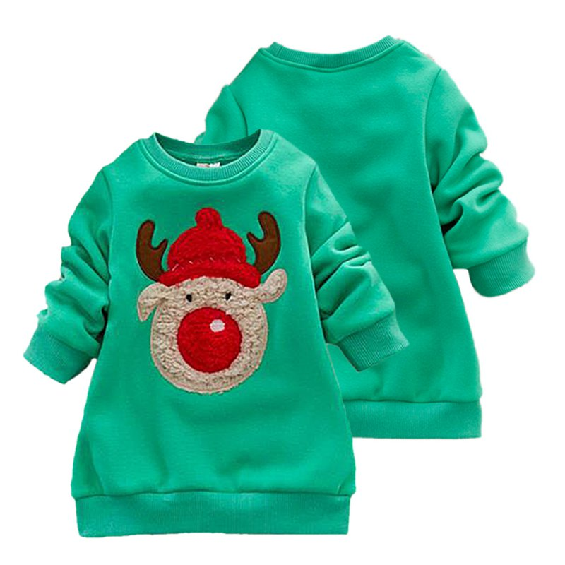 0-3Y Kids Sweater Autumn/Winter Baby Boys Girls Knitted Sweaters Casual Cartoon Elk Pattern Tops Christmas Gift For Children