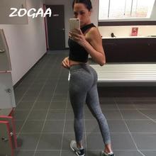 ZOGAA Fashion Push Up Leggings Women Workout Slim Polyester V-Waist Jeggings Pencil Pants