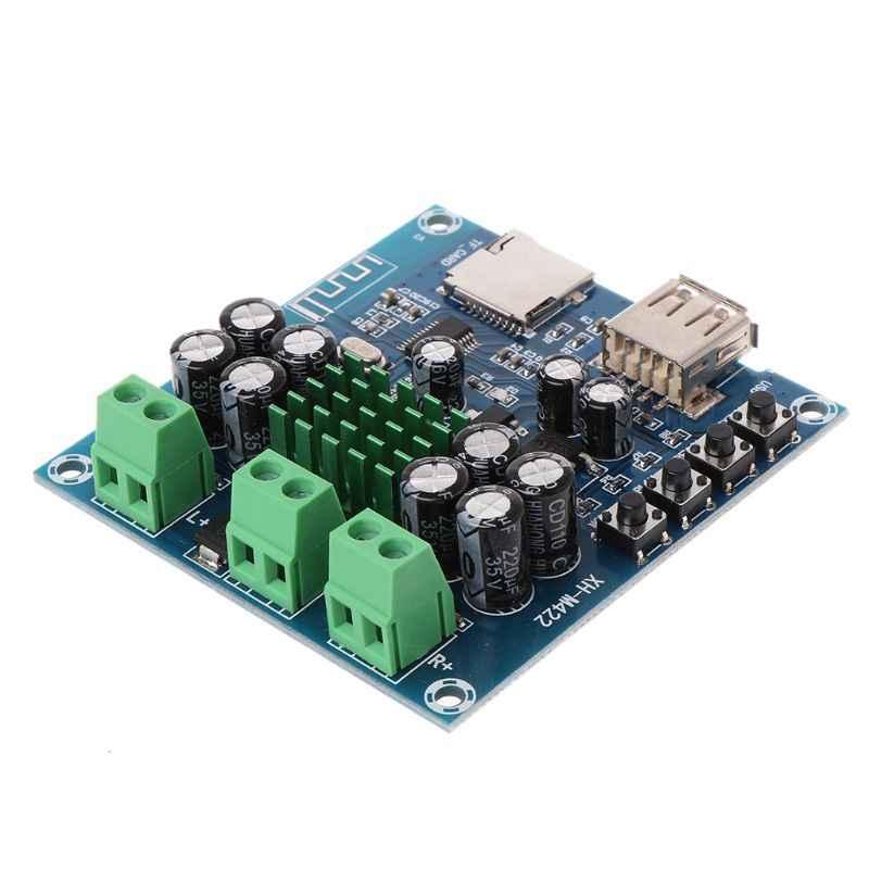 2 х 50 Вт AC/DC 12-24 V TPA3116D2 Поддержка двух каналов стерео Bluetooth цифровой аудиоприемник модуль усилителя для Поддержка TF карты U СОП