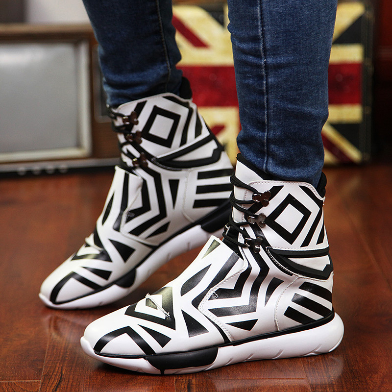 Men s high top BBOY hip hop shoes Sneakers Elevator ankle boots Velcro  platform shoes for men SDFF15-in Men s Casual Shoes from Shoes on  Aliexpress.com ... 35518aad8
