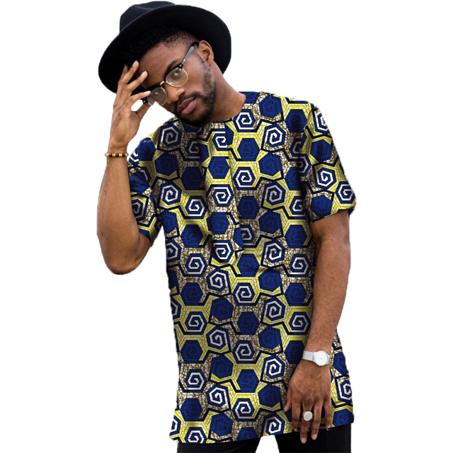Conventional Dashiki Men Dress Fashion Print Short Sleeve Tops Man T shirt Africa Style Design Festive Costume African Clothes 2