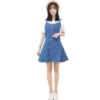 Summer Denim Skirt Skirt Female 2019 Sweet Stretch Denim Skirt Denim Long Skirt Buckle Blue Skirt Denim Skirt фото