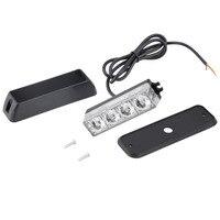 High Quality 4 LED Car Truck Emergency Beacon Light Bar Hazard Strobe Warning 2 Flashing Mode