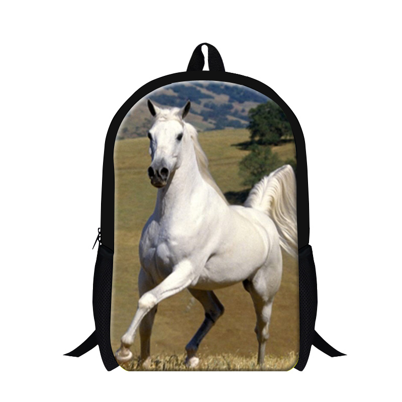 2017 Horse School Bags for Boys Teenagers Bagpack animal printed backpacks mochilas cool horse back pack for girls cute day pack