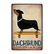 Assorted Dachshund Tin Signs