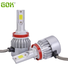 2pcs/set Super Bright 72W 7600LM COB H11 H7 LED Headlight Blub H1 H3 H8 H9 9005 9006 Car Bulbs Lamps High Power
