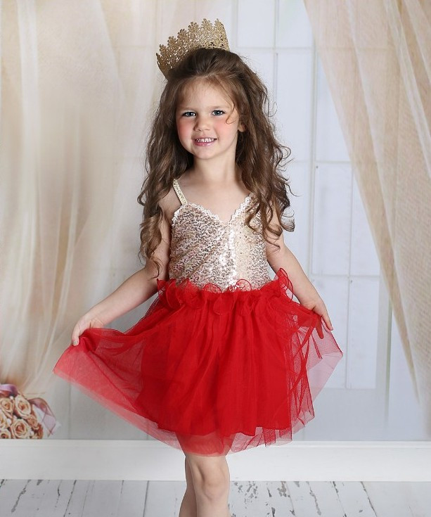 цена на EMS DHL Free shipping new V-neck Baby Girls Kids Sequin dress .tulle dress with ruffles 5 Colors Princess Dress Casual wear