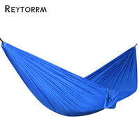 Blue Supreme Nylon Hammock 2 Person Outdoot Outing Relax Leisure Hanging Hamac Swing Durable Hamak Porch
