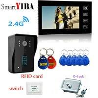 SmartYIBA 7 телефон двери Беспроводной дверной звонок видео двери просмотра видео вызова RFID разблокировать + магнитная/защелка/Электрический з