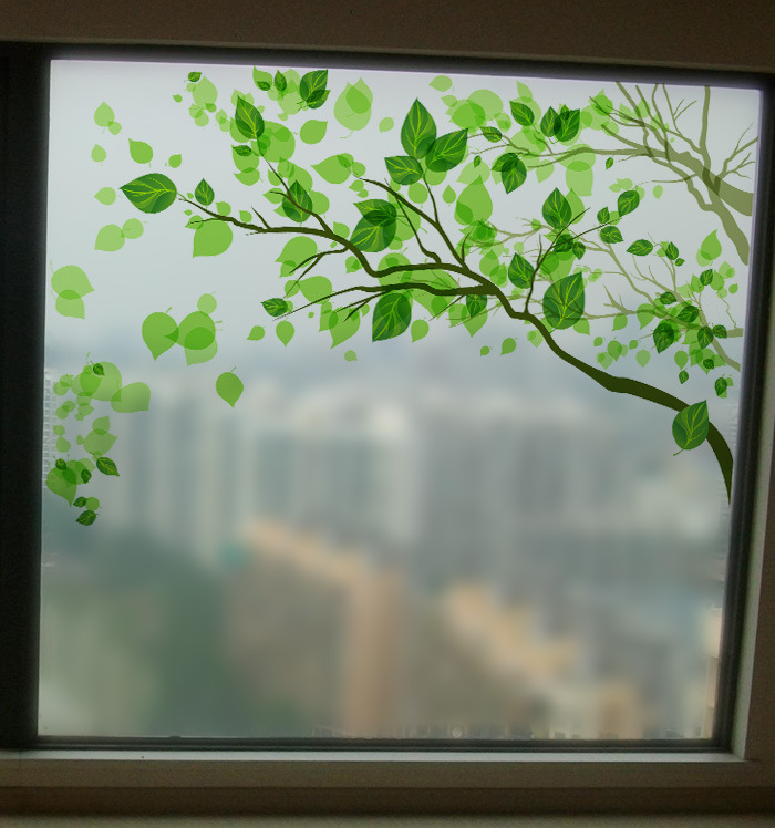 Window removable tinting frosted stained glass film