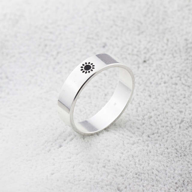 a9e414628 1pcs Vintage Supernatural Moon And Sun Ring Lettering Promise Couples Rings  BFF Knuckle Anelli Anillos Valentine's' Day Gifts-in Wedding Bands from  Jewelry ...