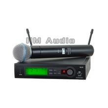 SLX24 BETA58 UHF Sistema de micrófono inalámbrico Vocal Microfone Karaoke Micrófonos Inalámbricos de mano única