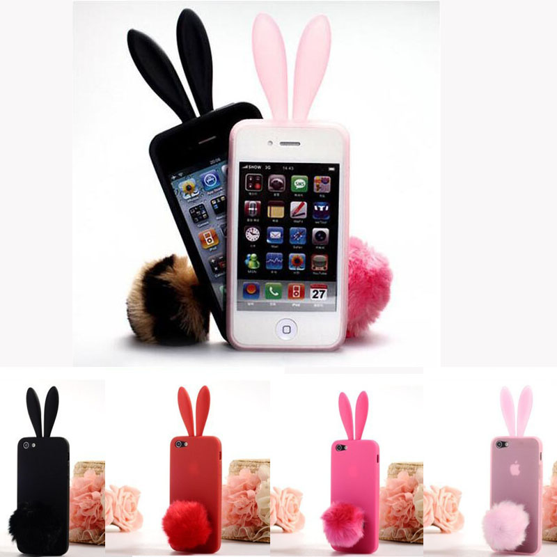 coque for iphone 5s case silicone cute bunny rabbit ears. Black Bedroom Furniture Sets. Home Design Ideas