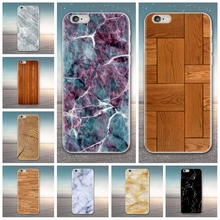 Marble Wood Pattern Case For iPhone 4/4S/5/5S/Se TPU Soft Case Printing Back Cover Phone Case scorpion pattern detachable protective wood back case for iphone 5 5s wood