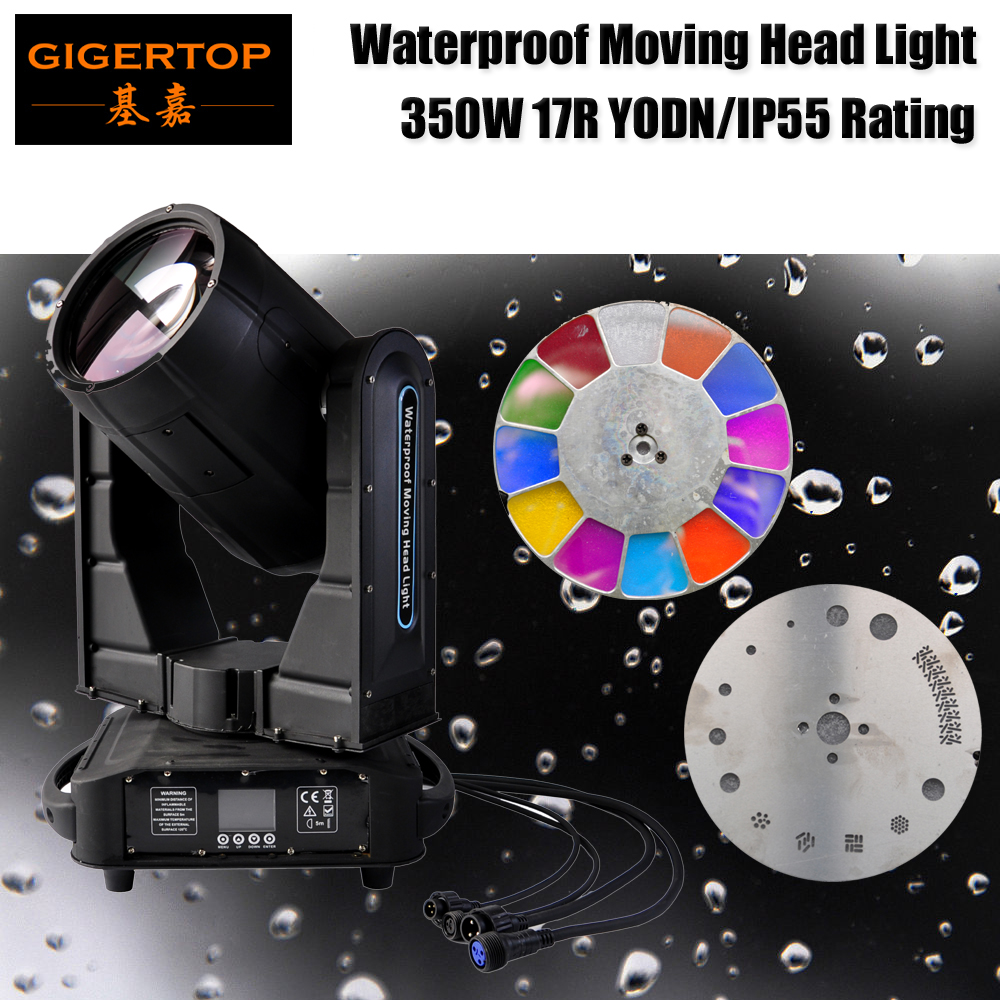TIPTOP STAGE LIGHT TP-L350W Moving Outdoor Light YODN 17R MSD Bulb Fan Cooling System IP55 Dual Prism Lens/Frost Lens CE ROHS