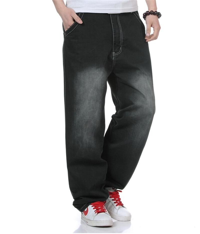 Men Denim Black Jeans Fashion Classic Hip Hop Style
