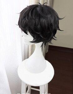 Image 3 - משחק פרסונה 5 P5 גיבור Kurusu אקירה קצר שחור פאת חום עמיד שיער Cosplay תלבושות פאות + Freen פאת כובע