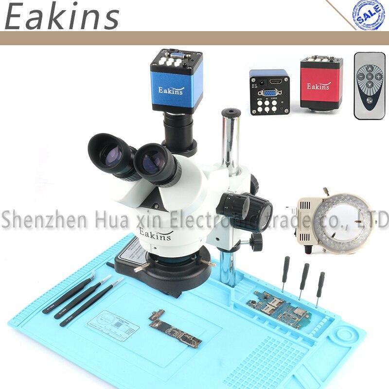 Professional Simul-Focal тринокуляр стерео микроскоп 3.5X-90X вертикальный зум + 14MP HDMI/VGA Microscopio камера для Пайки PCB