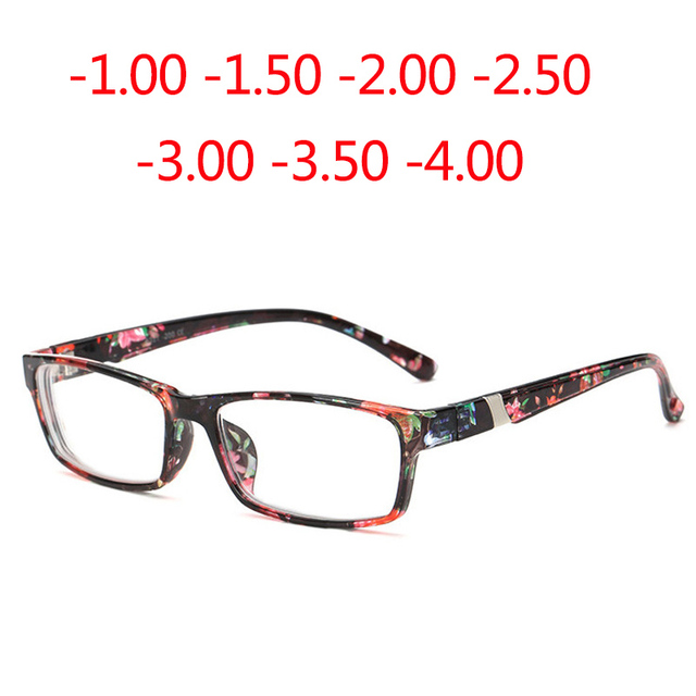 2339cc90e17 Finished Myopia Eyeglasses New Optical Men Women student Eyewear AC Lens  prescription 3 color Glasses Frame -1.0 -1.5 -4.0