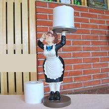 Креативная скульптура слуга из смолы, диспенсер для туалетной бумаги, Декор, украшение, аксессуары, предметы интерьера для умывальника