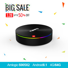 T95Q 4 GB 64 GB Android 8,1 LPDDR4 Amlogic S905X2 tv box 4 ядра 2,4G и 5 ГГц Wi-Fi BT4.1 1000 м H.265 4 K pk x96max Smart tv box