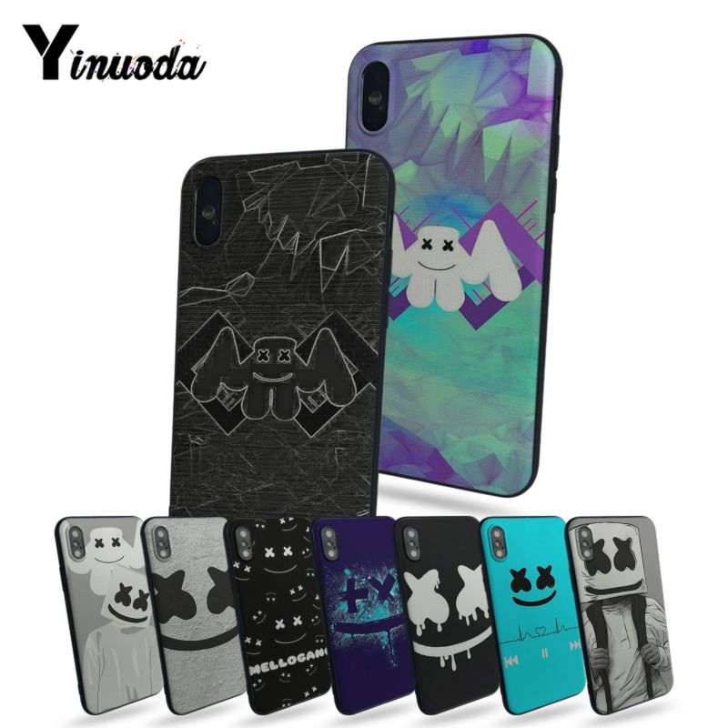 Yinuoda DJ Marshmello Luxury High-end Protector phone Case For iphone 7 7plus X 8 8plus And 5 5s 6s Plus Mobile cover