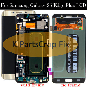 """Image 1 - For Samsung Galaxy S6 Edge Plus LCD G928 G928F Display Touch Screen Assembly Replacement For 5.7"""" SAMSUNG S6 Edge Plus LCD+frame"""