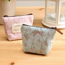 Floral Style Coin Purse Women Small font b Wallet b font Canvas Bags Cute Money font