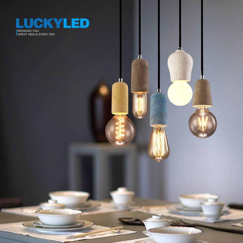 LUCKYLED винтажный подвесной светильник американский Стиль E27/E26 гнездо цементный светильник держатель Крытый декоративный подвесной светильник приспособление