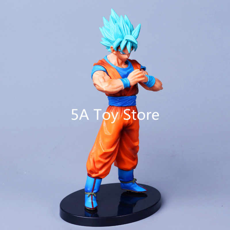 Dragon Ball Z SUPER DXF O Super Guerreiros vol.4 Super Saiyan DEUS Goku + vegetto SS azul PVC Action Figure Collectible Modelo Toy