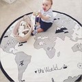 Baby Bed Sofa Play Mats World Map Adventure Kids Toddler Blanket Cover Boys Developing Toy Carpet tapis lapin coelho Cushion