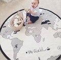 Cama Sofá Tapetes de Jogo do bebê Tampa Mapa Do Mundo de Aventura Crianças Blanket Criança Meninos Brinquedo Desenvolvimento Tapete tapis lapin coelho Almofada