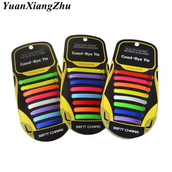16pcs/set Elastic Silicone Shoelaces Unisex Adult Athletic Running No Tie Shoelace All Sneakers Fit Strap Shoes Lace  13Colors sytat 12pc set running no tie shoelaces fashion unisex women men athletic elastic silicone shoe lace all sneakers fit strap