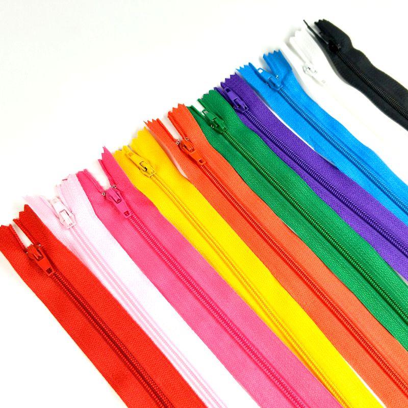 HL 10PCS/lot 3# 23.5CM  Nylon Zippers Close -End For Bags Garment Home Textile Sewing Crafts