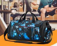 High quality brand travel bag fitness sports bag shoulder diagonal handbag female yoga bag dry and wet separation function