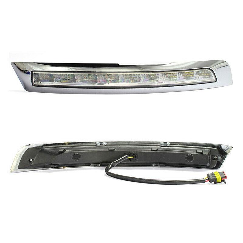 2Pcs LED DRL Daytime Running Lights Fog light Driving Bumper Fit For VOLVO XC90 2007 2013