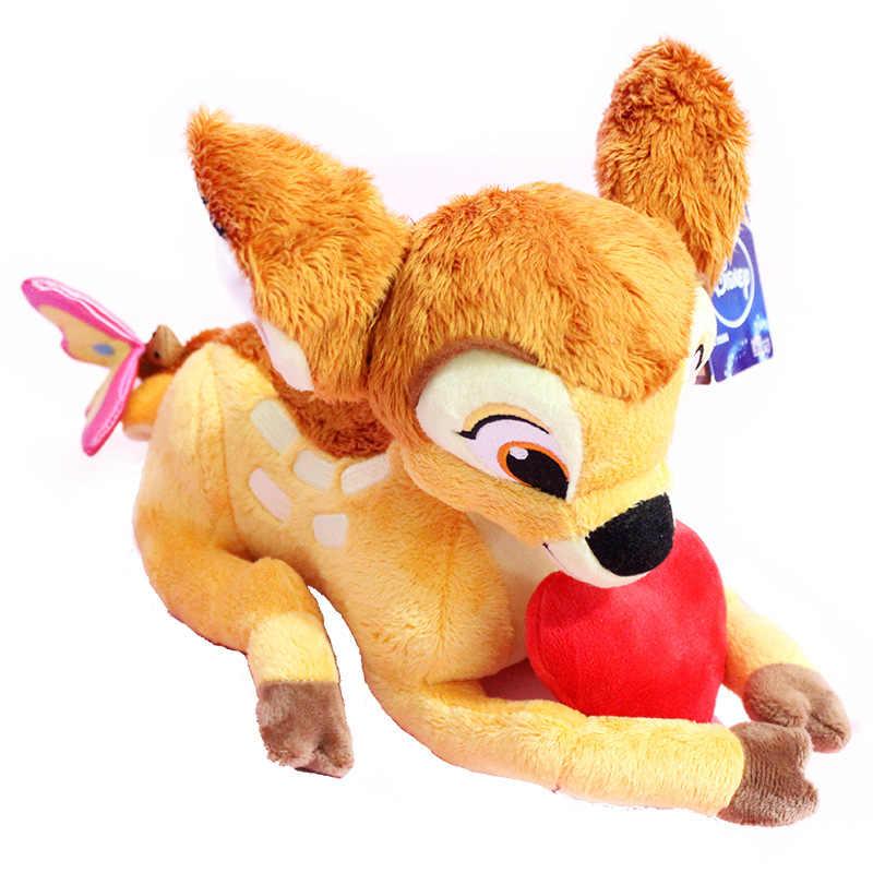 Дисней милые плюшевые куклы игрушки Long25 High18 Бэмби Олень в виде животного мягкая набивная плюшевые игрушки куклы дарят детям лучшие рождественские подарки