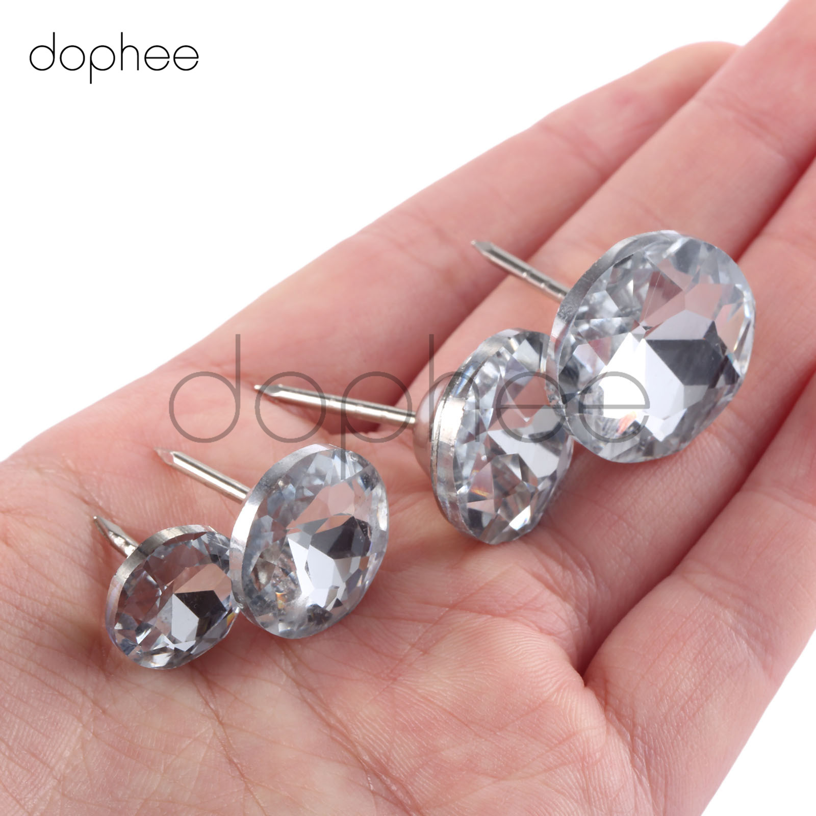 Arts,crafts & Sewing Dophee 10pcs Diamond Pattern Crystal Nails Button 18/20mm Rhinestone Crystal Buttons For Diy Sewing Accessories Ideal Gift For All Occasions